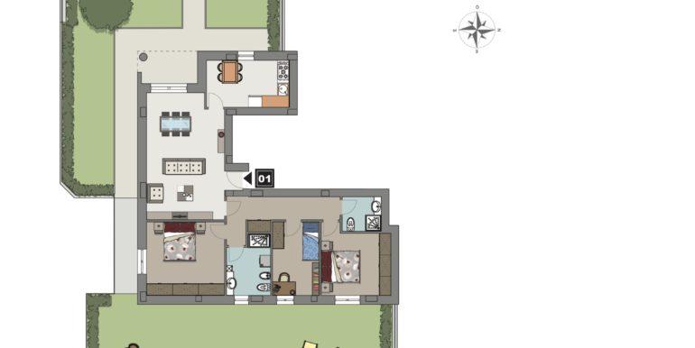 Appartamento 1 piano terra
