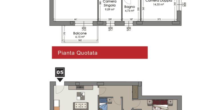 Appartamento 5 piano primo