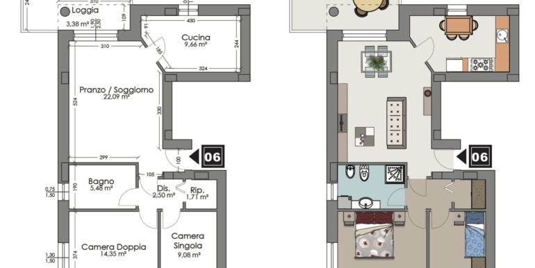 Appartamento 6 piano secondo