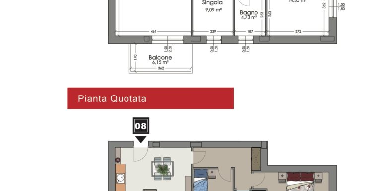 Appartamento 8 piano secondo