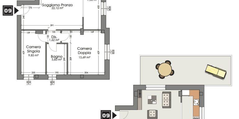 Appartamento 9 piano terzo