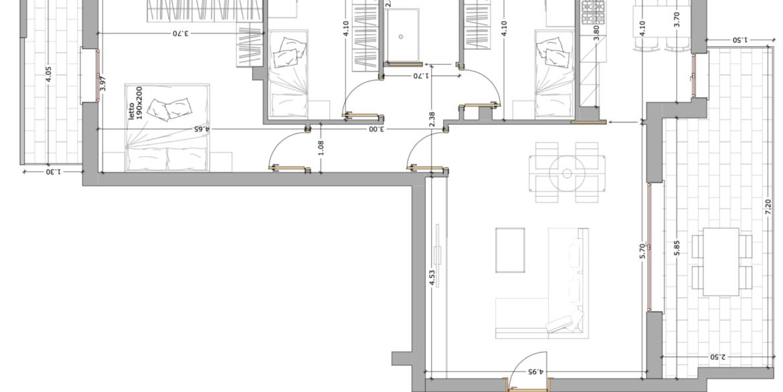 piano secondo 3 camere